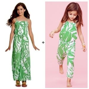 Lily Pulitzer For Target Green Leaf Print Jumpsuit